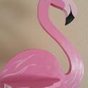Flamingó a kertbe, Dekoráció, Otthon, lakberendezés, Kerti dísz, Famegmunkálás, Festett tárgyak, Apukám kézügyességét dicséri ez a fából készített madár, kerti dísz.   Több szín és több darab áll ..., Meska