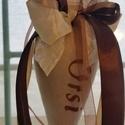Levendula tölcsérben - Orsi, Dekoráció, Otthon, lakberendezés, Azonnal vihető darab, rendelésre pedig a kért névvel rövid határidővel elkészítem!  22 cm-es textilt..., Meska
