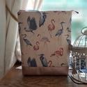 Könyvtok nyári flamingókkal, Azonnal vihető darab. Könyvtok finom hölgyeknek...