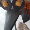 Vasmadár sárga szemekkel 57cm, Apukám kézügyességét dicséri ez a kőből, v...