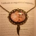 Angyali gyermek, Ékszer, Medál, Nyaklánc, Vintage stílusú technikával készült antikolt bronz nyaklánc, angyalszárny fityegővel (kéré..., Meska