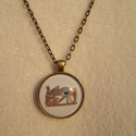 Hórusz szeme, Ékszer, Medál, Nyaklánc, Ékszerkészítés, Fémmegmunkálás, Vintage stílusú technikával készült antikolt bronz nyaklánc, egyiptomi szimbólummal(kérésre fülbeva..., Meska