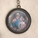 Szerelmespár, Ékszer, óra, Medál, Nyaklánc, Vintage stílusú technikával készült antikolt bronz nyaklánc, ikonszerű míves képpel egy sze..., Meska