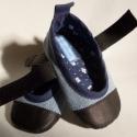 Puhatalpú farmer cipő,13 cm-es, Totyogóknak való fekete színű bőr  talppal, h...
