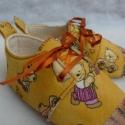 Utolsó macis cipő  AKCIÓ - 12.5 cm-es talphosszal, Maci mintás, fűzős, bőrorrú és bőrtalpú te...