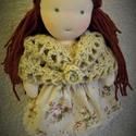 Dorka Waldorf kislány baba, Játék, Baba, babaház, Játékfigura, Plüssállat, rongyjáték, Baba-és bábkészítés, Horgolás, Dorka,  egy 40 cm-es,  Waldorf-jellegű, kézzel készült egyedi baba. Arca kézzel hímzett, öltöztethe..., Meska