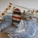 Tengerészmintás ovális gyűrű bronzszínű alapban, Tengerészmintás ovális gyűrű bronzszínű ala...