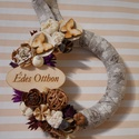 Lila-barna pillangós tavaszi kopogtató, Otthon, lakberendezés, Dekoráció, Dísz, Ajtódísz, kopogtató, , Meska