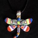 Mozaik pillangó nyaklánc, Kézzel készített,egyedi, különleges antik hat...