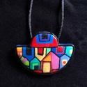 Hundertwasser nyaklánc, Kézzel készített,egyedi,nagyon színes,Hundertw...