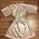 Leia hercegnő jelmez, Ruha, divat, cipő, Varrás, Leia hercegnő jelmez, 2 részes, ruha+öv. A ruha szatén fehér anyagból készült,  az öv ezüst színű m..., Meska