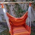 Függőhinta - narancs, Otthon & Lakás, Szék & Fotel, Bútor, Varrás, Textil függőszék narancs színben, segít ellazulni és kipihenni a mindennapi fáradalmakat. Anyaga bú..., Meska