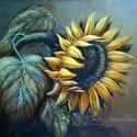 """""""Napraforgó"""" Olajfestmény INGYEN POSTA, Képzőművészet, Festmény, Olajfestmény, Festészet, A terméknél feltüntetett ár a 15x20 cm-es méretre vonatkozik! A festmény a képen láthatóval szinte ..., Meska"""