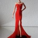 Jessica nyúl Barbie ruha, Játék, Baba-mama-gyerek, Ruha, divat, cipő, Baba, babaház, Varrás, Szépséges, vörös uszályos Barbie ruha, kizárólag jeles alkalmakra! :)  Szokásomhoz híven úgy szabta..., Meska