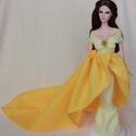 Szépség és a szörnyeteg barbie ruha, Baba-mama-gyerek, Játék, Baba játék, Baba, babaház, Varrás, Belle gyönyörű, ikonikus ruháját gondoltam újra. Az arany színű rózsával és gyöngyökkel gazdagon dí..., Meska