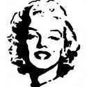 Falmatrica (Monroe), Dekoráció, Otthon, lakberendezés, Kép, Falmatrica, Monroe matrica. Falra vagy más ,használati tárgyra ragasztható matrica. Bárhová, ahová csak s..., Meska