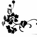 Falmatrica  virág, Dekoráció, Dísz, Kép, Fotó, grafika, rajz, illusztráció, Falra vagy más ,használati tárgyra ragasztható matrica. Bárhová, ahová csak szeretnéd.  Mindkét old..., Meska