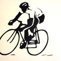 Falmatrica (biciklis), Dekoráció, Otthon, lakberendezés, Kép, Falmatrica, Fotó, grafika, rajz, illusztráció, Gyorsasági biciklis:) Falra vagy más ,használati tárgyra ragasztható matrica. Bárhová, ahová csak s..., Meska