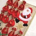 Adventi naptár, Dekoráció, Ünnepi dekoráció, Karácsonyi, adventi apróságok, Adventi naptár, Patchwork, foltvarrás, Varrás, Mikulásra és karácsonyi ajándékként is kitűnő.  Ez egy elkelt darab fotója, de amit küldök iis ilye..., Meska