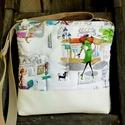 AkciÓ! 6200ft helyett.. Óvárosi séta Textilbőr válltáska, oldaltáska, Táska, Ruha, divat, cipő, Válltáska, oldaltáska, Tarisznya, Patchwork, foltvarrás, Varrás, Legújabb válltáskámat, designer vászonból  és minőségi textilbőr anyagból készítettem.  Hordható ké..., Meska