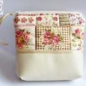 Rózsás neszesszer, Rózsás táskámat pamutvászonból és textilbő...