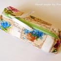 AkciÓ!  Vintage virágos tolltartó, bármit-tartó , Baba-mama-gyerek, Táska, Pénztárca, tok, tárca, Neszesszer, Gyönyörű virágokkal díszített tolltartó.  Pamutvászonból, vetex erősítéssel, drapp béléssel készült...., Meska