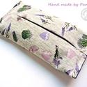 Papírzsebkendőtartó Vintage levendulák, Baba-mama-gyerek, Szépségápolás, Táska, Egészségmegőrzés, Textil papír-zsebkendő tartó, amit minőségi levendulás vászonból készítettem. A kép egy eladott dara..., Meska