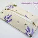 Zsebkendőtartó  levendula csokrok, Textilből készült papír-zsebkendő tartó, ami...