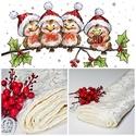 Karácsonyi asztalterítő, asztali futó világos ,bézs, Minőségi anyagból készült inda mintás terít...