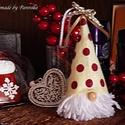Szakállmanó, Gnome, Dekoráció, Ünnepi dekoráció, Karácsonyi, adventi apróságok, Karácsonyi dekoráció, Ünnepváró, pöttöm manó! Egy nagy szakáll, tetejében pöttyös filc sapka, gyöngy orr. Kedves, vicces k..., Meska