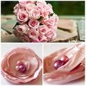 Akció! Kitűző,rózsaszín szirmokból, Ruha, divat, cipő, Ékszer, Esküvő, Bross, kitűző, Világos rózsaszín szirmú kitűzőm szövet anyagokból készült, elegáns, nőies darab lett. Mérete: 6-7 c..., Meska