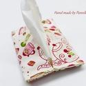 Zsebkendőtartó  mesekonyha, Baba-mama-gyerek, Szépségápolás, Táska, Egészségmegőrzés, Textilből készült papír-zsebkendő tartó, amit minőségi  vászonból készítettem. Nagyon praktikus dara..., Meska