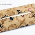 Zsebkendőtartó táncoló macska, Baba-mama-gyerek, Szépségápolás, Táska, Egészségmegőrzés, Textilből készült papír-zsebkendő tartó, amit minőségi pamutvászonból készítettem. Nagyon praktikus ..., Meska