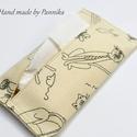 Zsebkendőtartó macska-egér, Baba-mama-gyerek, Szépségápolás, Táska, Egészségmegőrzés, Textilből készült papír-zsebkendő tartó, amit minőségi pamutvászonból készítettem. Nagyon praktikus ..., Meska