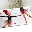 Zsebkendőtartó  balerina, Textilből készült papír-zsebkendő tartó, ami...