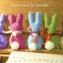 Öt darab színes, húsvéti textil nyuszi, pom-pom farokkal, Baba-mama-gyerek, Húsvéti díszek, Dekoráció, Ünnepi dekoráció, Baba-és bábkészítés, Varrás, Nyuszik 300Ft/ darab áron.  Lehet többet, vagy kevesebbet kérni! Üzenetben megbeszéljük, hogy melyi..., Meska
