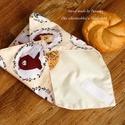 Újraszalvéta Öko szendvics-csomagolás (sünikés vízálló textilszalvéta), NoWaste!  Hulladék mentes szendvics-csomagolás. ...