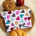 ÖKO szendvics-csomagolás ( Szív vízálló textilszalvéta), NoWaste!  Hulladék mentes szendvics-csomagolás. ...