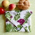 Öko szendvics-csomagolás (Filodendron és egyéb, vízálló textilszalvéta), NoWaste!  Hulladék mentes szendvics-csomagolás. ...