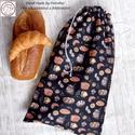 JÓ NAGY kenyér zsák! KENYERES, PÉKÁRUS Zsák Frissentartó, Kitörölhető! NoWaste csomagolás! , Öko KENYERES zsákot készítettem nektek, hogy m...