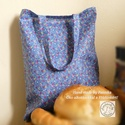 Bevásárló szatyor, amit hajtogass be a táskádba és legyen mindíg kéznél!, Kés alapon virágmintás gyönyörú bevásárló...