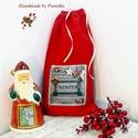 OLCSÓN! Mikulászsák vintage karácsonyi rátéttel, Mintás vászon mikulás zsákot készítettem. Na...