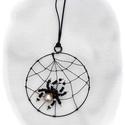Halloweeni tekla pókocska, Ékszer, Nyaklánc, Ez egy egyedi kis ékszer, amelyet magam terveztem, és minden alkotóelemét magam készítettem. A..., Meska