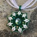 Zöld-Fehér Tile Guegue Nyaklánc, Ékszer, Nyaklánc, Vezsuzsi Tile Guegue medál mintája alapján készült nyakláncot eladásra kínálom. Gyöngyfűz..., Meska
