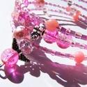 Angyali rózsaköd, Ékszer, óra, Karkötő, Izgalmasan púderes halványrózsaszín memóriadrót.  Bármely csuklóméretre jó, formatartó.  ..., Meska