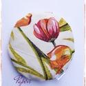 Tulipános csuklótámasz, gyógypárna, Mindenmás, Otthon, lakberendezés, Furcsaságok, Tulipán,romantika ... mindez most egy tönkölypelyvával töltött csuklótámaszban.  Belső: pamutvászon,..., Meska