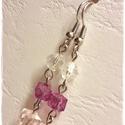 Marcella fülbevaló, Ékszer, Fülbevaló, A fülbevalót csiszolt akril gyöngyből készítettem, ezüst színű szerelékkel.  Teljes hossza: 4,7 cm. ..., Meska