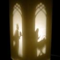 Lámpabetét_Betlehem, Papírkivágással készült karácsonyi lámpabet...