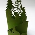 Szarvas_Harmonika képeslap, Naptár, képeslap, album, Karácsonyi, adventi apróságok, Ajándékkísérő, képeslap, Karácsonyi dekoráció, Egyedi illusztrációval készült - karácsonyi hangulatú -áttört mintás képeslap, dekoráció, borítékkal..., Meska