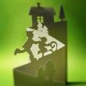 Szánkós_Harmonika képeslap, Naptár, képeslap, album, Karácsonyi dekoráció, Ajándékkísérő, képeslap, Karácsonyi, adventi apróságok, Egyedi illusztrációval készült - karácsonyi hangulatú -áttört mintás képeslap, dekoráció, borítékkal..., Meska